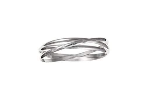 Sterling Silver Russian Slave Hallmarked Bangle